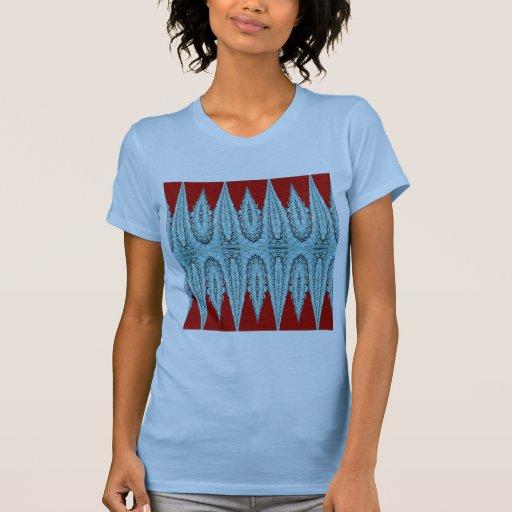 Camiseta del fractal del cordón de la aguamarina remeras