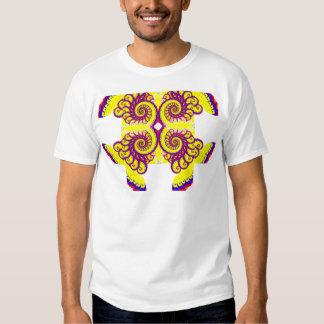 Camiseta del fractal del fuego poleras