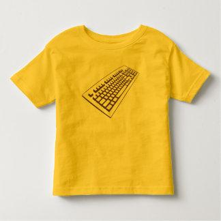 Camiseta del friki del teclado de ordenador del