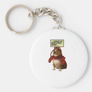 Camiseta del fuerte del perro llavero redondo tipo pin