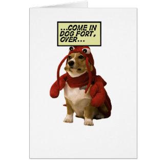 Camiseta del fuerte del perro tarjeta de felicitación