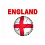 Camiseta del fútbol de Inglaterra Tarjetas Postales