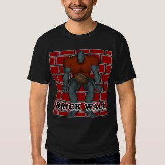 Camiseta del fútbol de la pared de ladrillo