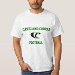 Camiseta del fútbol de las cobras de Cleveland Poleras