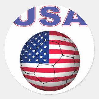 Camiseta del fútbol de los E.E.U.U. Etiquetas Redondas