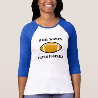 Camiseta del fútbol del reloj de las mujeres