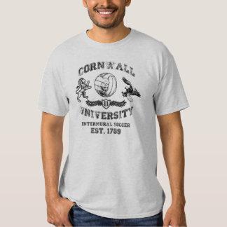 Camiseta del fútbol del vintage de la universidad polera