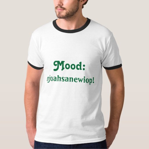 Camiseta del galimatías del teclado de los hombres polera