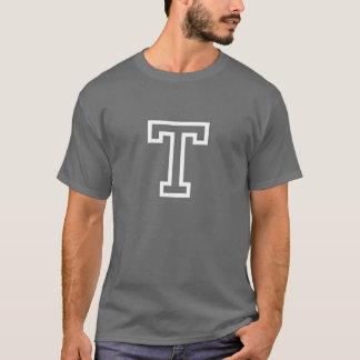 Camiseta del ganador de una letra por la piel de