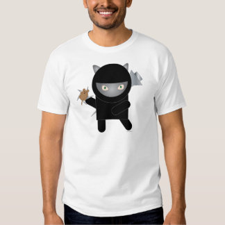 Camiseta del gatito de Ninja Camisas
