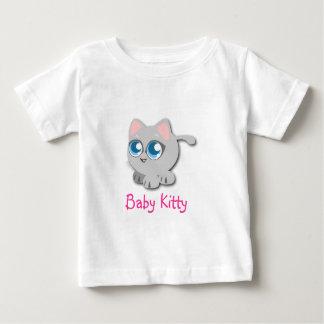 Camiseta del gatito del bebé playeras