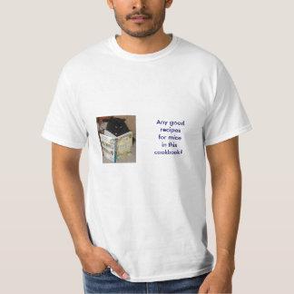 Camiseta del gatito del libro de cocina playera