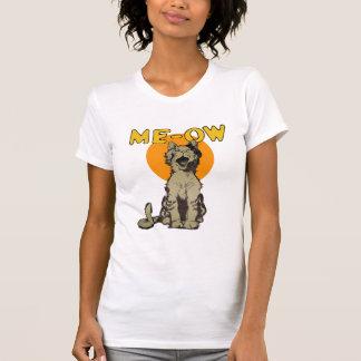Camiseta del gato callejero del canto del vintage