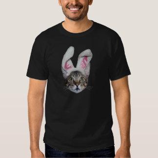 Camiseta del gato de la sabana del conejito de camisas
