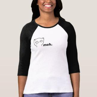 Camiseta del gato de Meh Camisas