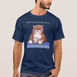 Camiseta del gato del café