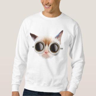 Camiseta del gato del café sudadera