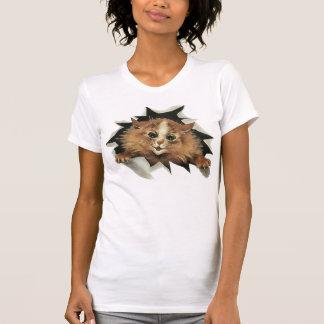 Camiseta del gato del carámbano del vintage playera