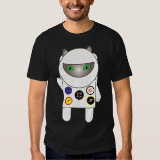 Camiseta del gato del gatito del astronauta polera