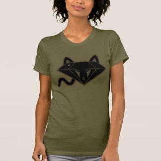 Camiseta del gato del gatito del diamante negro de remera