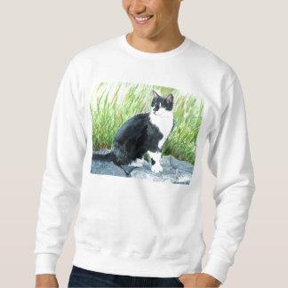 Camiseta del gato del smoking sudadera