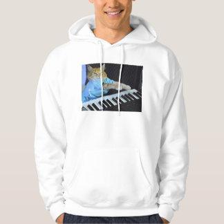 ¡Camiseta del gato del teclado! Sudaderas