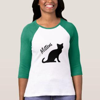 Camiseta del gato negro con nombre del animal de remeras