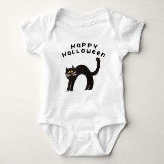 Camiseta del gato negro playeras