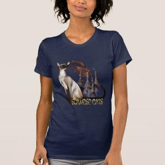 Camiseta del gato siamés playera