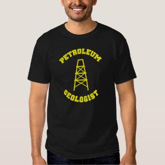 Camiseta del geólogo de petróleo playeras