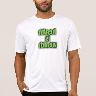 Camiseta del gimnasio - la salud es imagen de