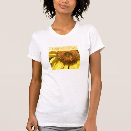 Camiseta del girasol de la felicidad