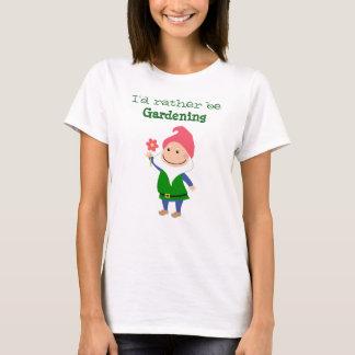 Camiseta del gnomo del jardín
