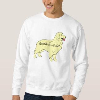 Camiseta del golden retriever buena como oro sudadera