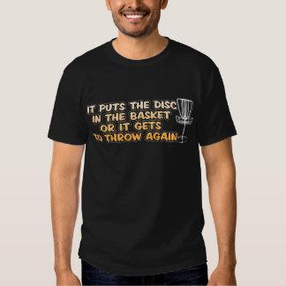Camiseta del golf del disco playera