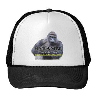 Camiseta del gorila de Harambe Gorras