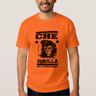 Camiseta del gorila playera