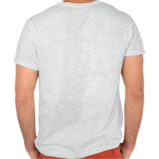 Camiseta del gráfico de la quemadura poleras