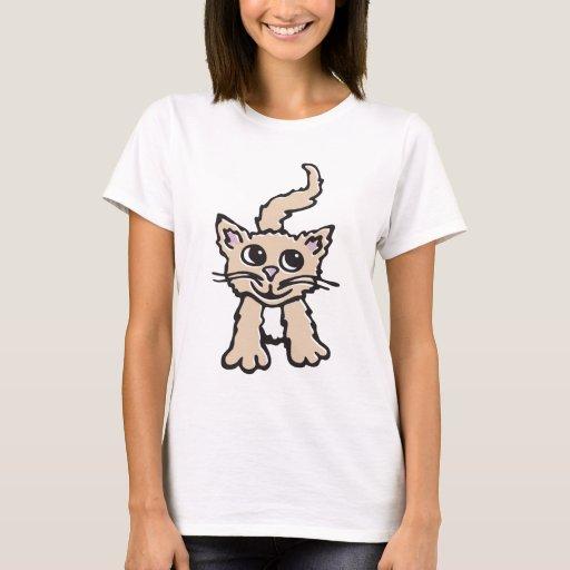 Camiseta del gráfico del gatito/del gato