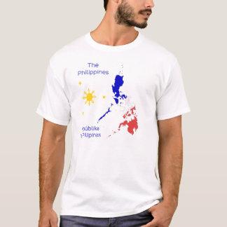 Camiseta del gráfico del mapa de Filipinas