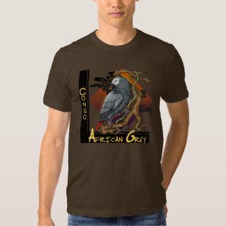 Camiseta del gris africano de Congo Poleras