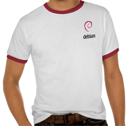 Camiseta del gris de Debian