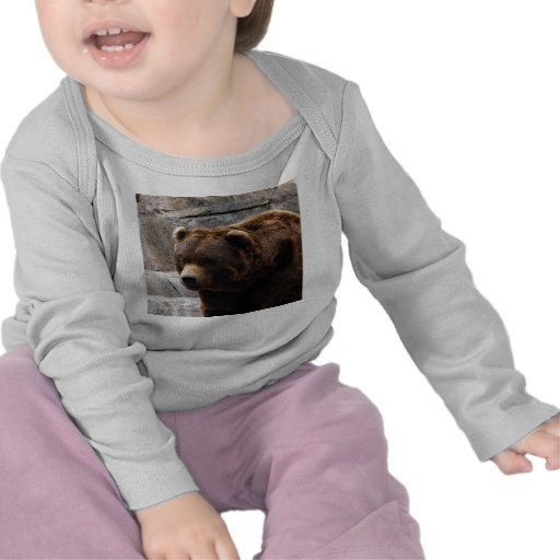 Camiseta del grisáceo Bear-011