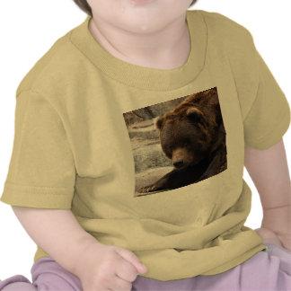 Camiseta del grisáceo Bear-015