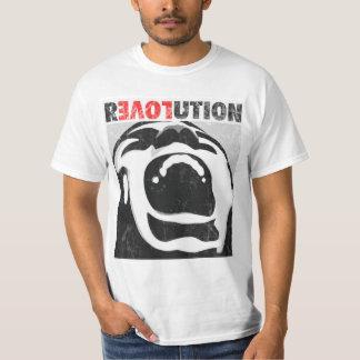 Camiseta del grito del amor de la revolución playera
