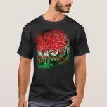 Camiseta del Grunge con el dragón y Cymru Galés
