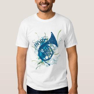 Camiseta del Grunge de la trompa Playera