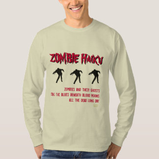 Camiseta del Haiku del zombi Playera