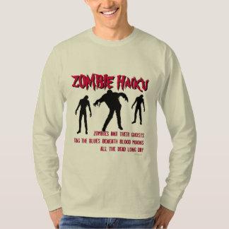 Camiseta del Haiku del zombi Poleras