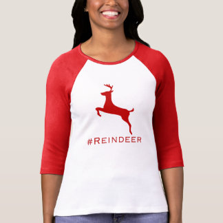 camiseta del hashtag del #Reindeer Playera